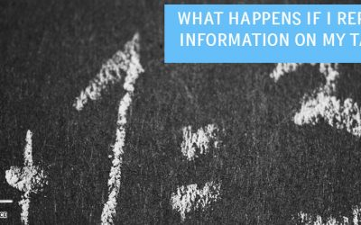 What Happens if I Report Wrong Information on my Tax Return?
