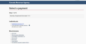 how to pay taxes to CRA